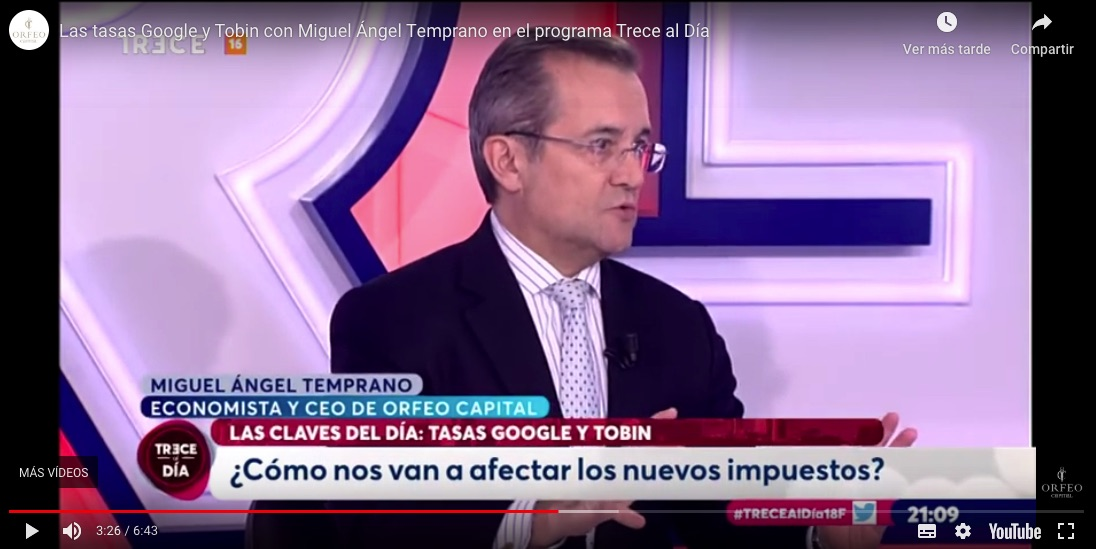 Google and Tobin rates with Miguel Ángel Early in the Thirteen Day Program